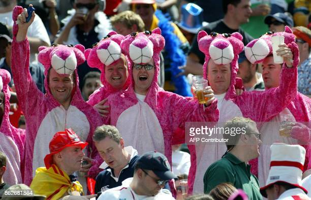 Rugby fans wearing Pink Panther costumes cheer during the Rugby World Cup Sevens 2005 in Hong Kong 20 March 2005 It was reported last week that...
