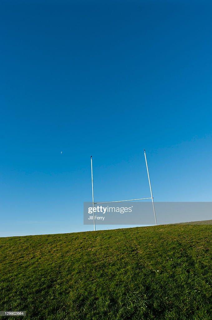 Rugby Goal post : Stock Photo