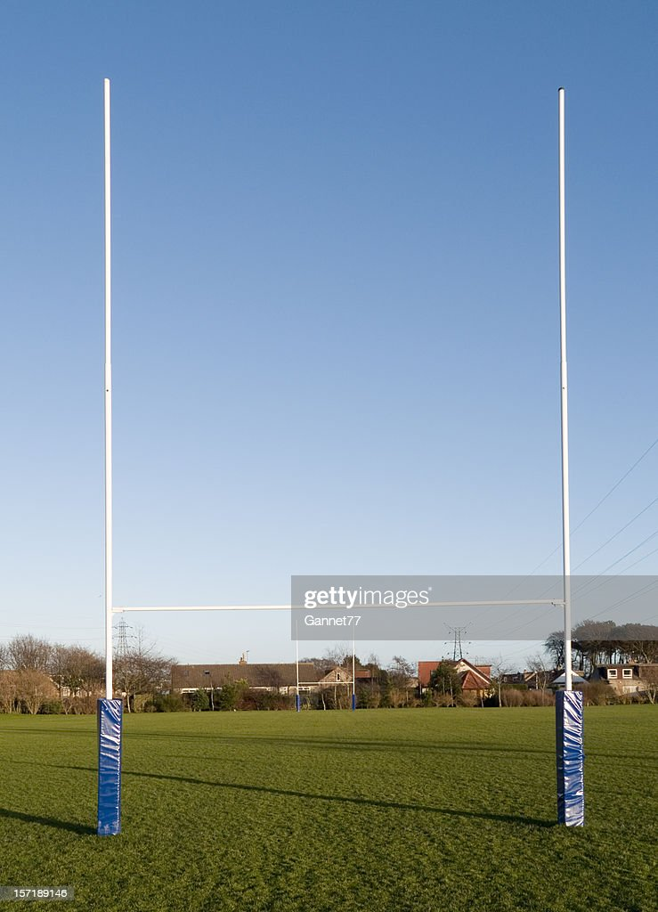 Rugby goalpost in park
