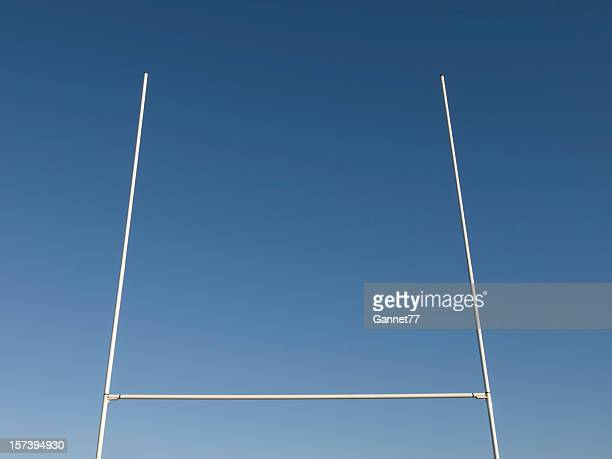 Rugby Goalposts against Blue Sky