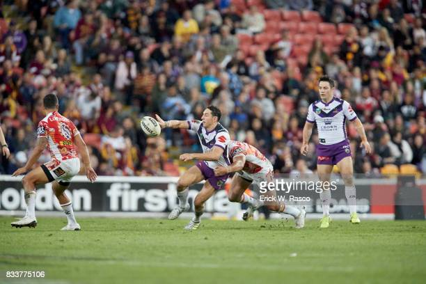Overall view of miscellaneous action during Melbourne Storm vs Brisbane Broncos during Round 17 match at Suncorp Stadium Brisbane Australia 6/30/2017...