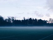 Rugby Pitch In Fog