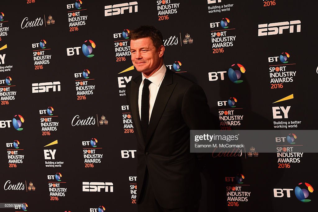 Rugby player <a gi-track='captionPersonalityLinkClicked' href=/galleries/search?phrase=Brian+O%27Driscoll&family=editorial&specificpeople=194745 ng-click='$event.stopPropagation()'>Brian O'Driscoll</a> poses on the red carpet at the BT Sport Industry Awards 2016 at Battersea Evolution on April 28, 2016 in London, England. The BT Sport Industry Awards is the most prestigious commercial sports awards ceremony in Europe, where over 1750 of the industry's key decision-makers mix with high profile sporting celebrities for the most important networking occasion in the sport business calendar.