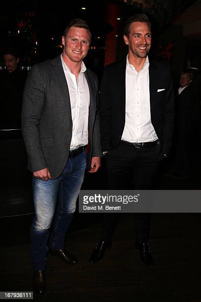 Rugby player Chris Ashton and guest attend the UK Premiere After Party of 'Star Trek Into Darkness' at Aqua on May 2 2013 in London England