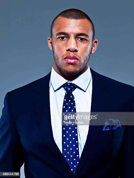 Rugby player Courtney Lawes is photographed for Austin Reed clothing on November 24 2011 in London England