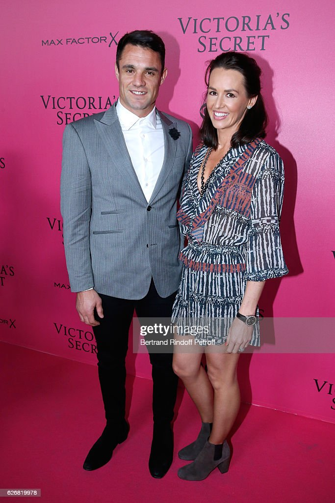 Rugby Player Dan Carter and his wife Honor attend the 2016 Victoria's Secret Fashion Show. Held at Grand Palais on November 30, 2016 in Paris, France.