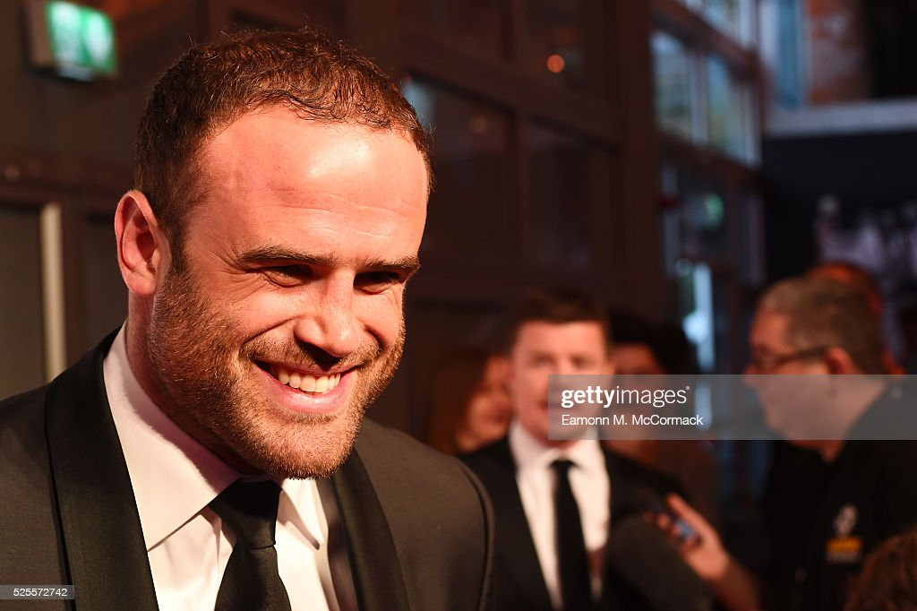 Rugby player <a gi-track='captionPersonalityLinkClicked' href=/galleries/search?phrase=Jamie+Roberts&family=editorial&specificpeople=3530992 ng-click='$event.stopPropagation()'>Jamie Roberts</a> poses on the red carpet at the BT Sport Industry Awards 2016 at Battersea Evolution on April 28, 2016 in London, England. The BT Sport Industry Awards is the most prestigious commercial sports awards ceremony in Europe, where over 1750 of the industry's key decision-makers mix with high profile sporting celebrities for the most important networking occasion in the sport business calendar.