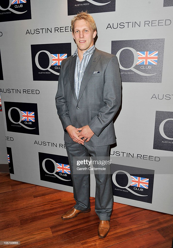 Rugby player Lewis Moody attends the Austin Reed Q Club Launch at the Austin Reed Regent Street store on October 19, 2010 in London, England.