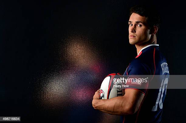 Rugby player Madison Hughes poses for a portrait at the USOC Rio Olympics Shoot at Quixote Studios on November 21 2015 in Los Angeles California