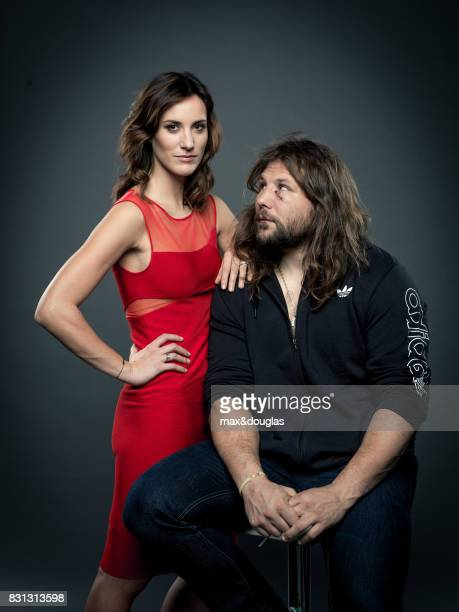 Rugby player Martin Castrogiovanni and Giula Candiago are photographed for Vanity Fair Italy on December 23 2013 in Milan Italy