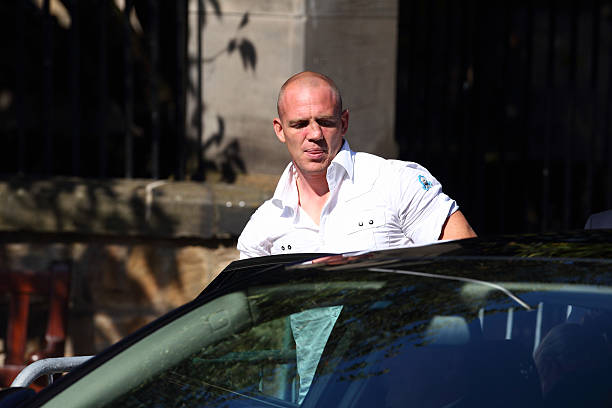 Rugby Player Mike Tindall Attends His Wedding Rehearsal To The Queen S Granddaughter Zara Phillips At Canongate