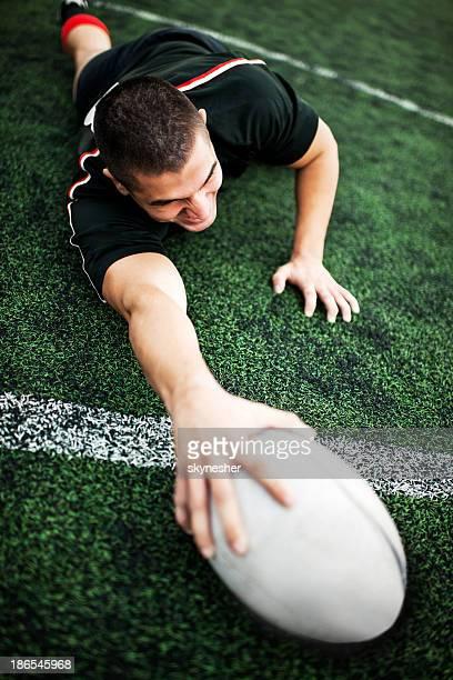 Rugby-Spieler.