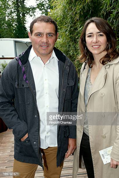 Rugby Player Raphael Ibanez and wife Sandra attend Roland Garros Tennis French Open 2013 Day 6 on May 31 2013 in Paris France