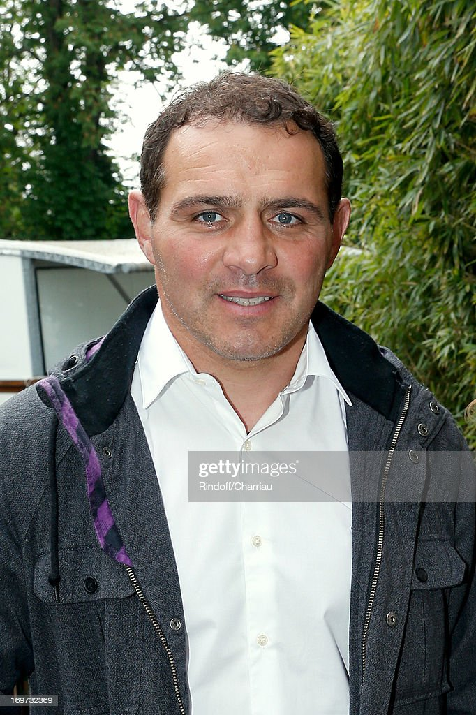Rugby Player Raphael Ibanez attends Roland Garros Tennis French Open 2013 - Day 6 on May 31, 2013 in Paris, France.
