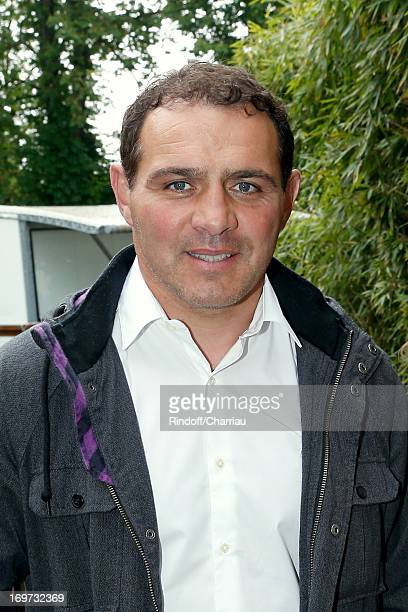 Rugby Player Raphael Ibanez attends Roland Garros Tennis French Open 2013 Day 6 on May 31 2013 in Paris France