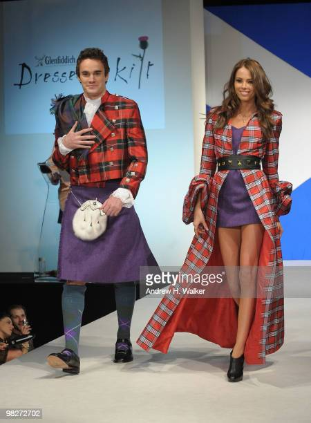 Rugby player Thom Evans walks the runway at the 8th annual 'Dressed To Kilt' Charity Fashion Show presented by Glenfiddich at M2 Ultra Lounge on...