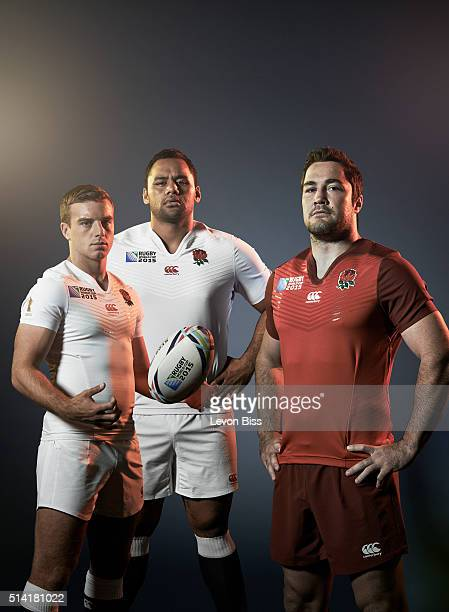 Rugby players George Ford Billy Vunipola and Brad Barritt are photographed for ES magazine on July 6 2015 in London England