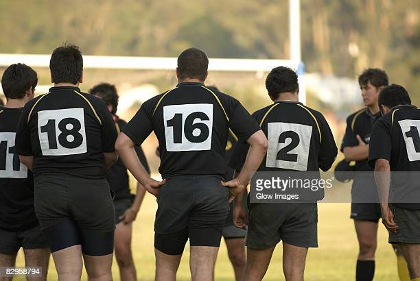 Rugby players standing together