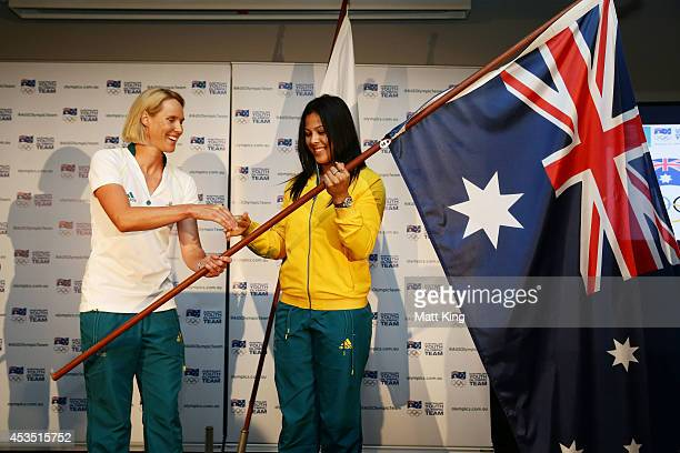 Rugby Sevens player Tiana Penitani is announced as 2014 Australian Youth Olympic Team flagbearer by Chef de Mission Susie O'Neill during the...