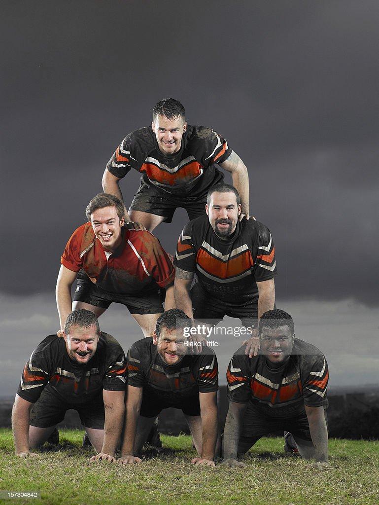 Rugby Team Pyramid Portrait.