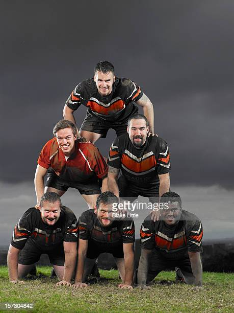 Rugby Team Pyramid Portrait.