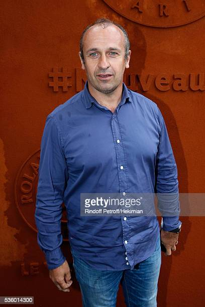 Rugby Trainer Philippe SaintAndre attends Day Ten of the 2016 French Tennis Open at Roland Garros on May 31 2016 in Paris France