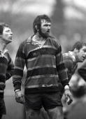 Rugby Union John Player Cup Franklins Gardens England 27th February 1982 Northampton Saints 10 v Leicester 23 Northampton's Vince Cannon