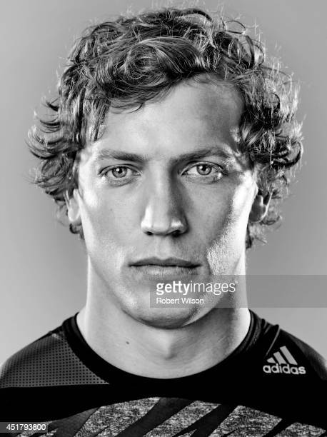 Rugby union player Billy Twelvetrees is photographed for the Sunday Times on January 17 2014 in Gloucester England