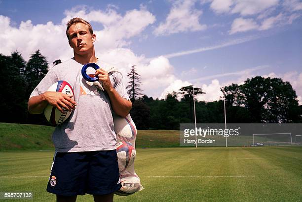 Rugby union player Jonny Wilkinson is photographed for Hodder Headline books on May 23 2004 in Bath England