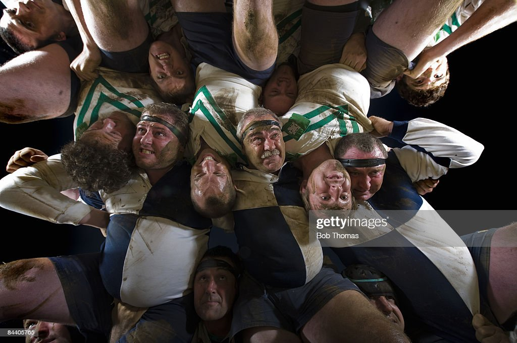Rugby Union Scrum : Stock Photo