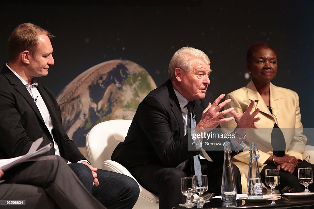 Rugby World Cup Winning Captain Francois Pienaar President of UNICEF UK Lord Ashdown and Director of SOAS University of London Baroness Amos take...