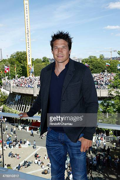 Rugbyman Francois TrinhDuc attends the French Tennis Open 2015 at Roland Garros on May 30 2015 in Paris France