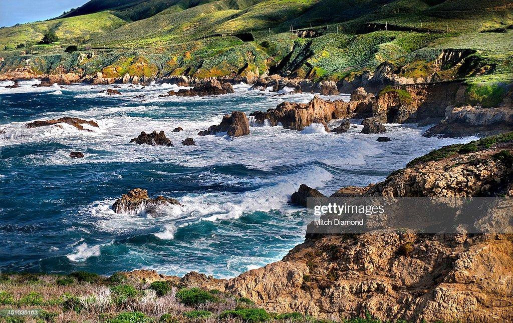 Rugged Big Sur coastline : Stock Photo