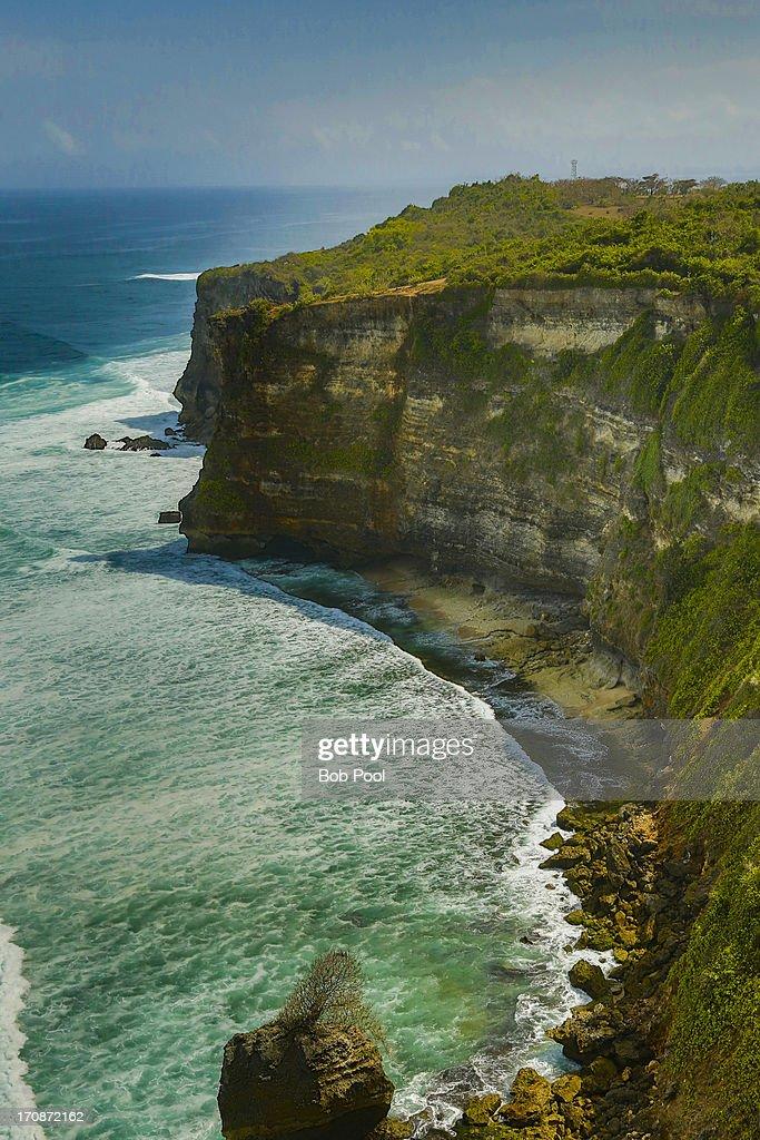 Rugged coastline, Bali, Indonesia : Stock Photo