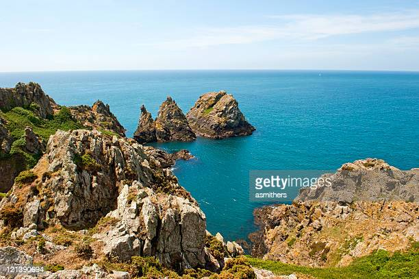 Rugged coastline of Guernsey