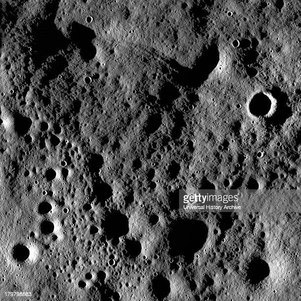Rugged highland terrain on the farside of the Moon south of Cantor crater