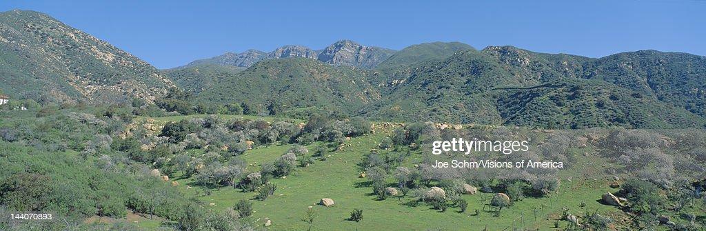 Rugged hills in Upper Ojai Valley California