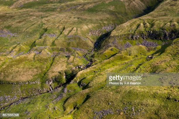 Rugged hillside beside the Buttertubs Pass, North Yorkshire, England