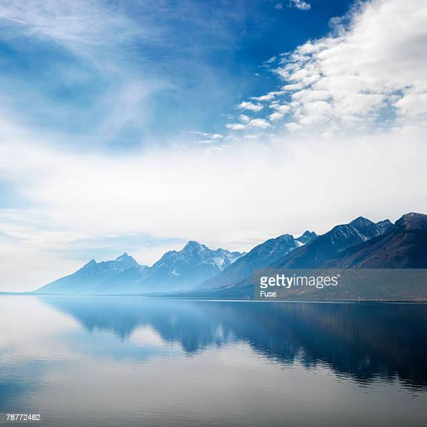 Rugged Mountains Reflected in Lake