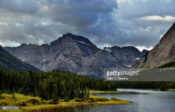 Rugged Mountainside and Peaks with Mount Wilbur and the Mountains of the Continental Divide