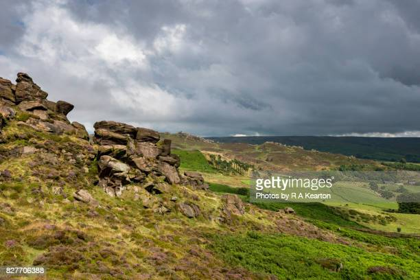Rugged scenery at The Roaches and Ramshaw rocks, Staffordshire, England