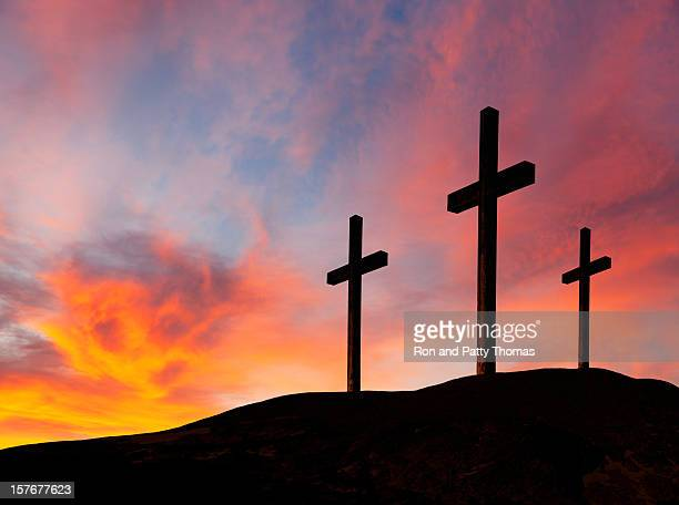 Rugged Wooden Crosses