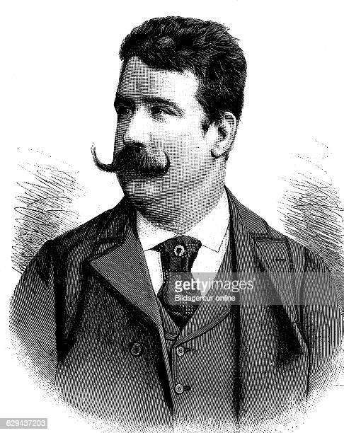 Ruggiero leoncavallo 1857 1919 italian composer historical illustration circa 1893