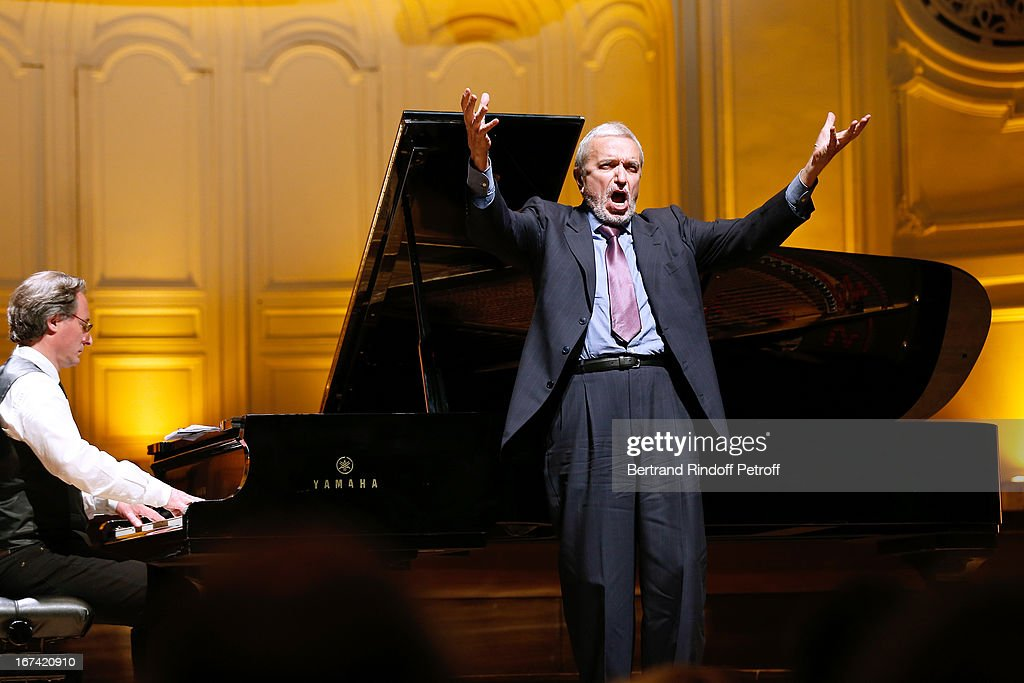 Ruggiero Raimondi performs at Salle Gaveau 105th Anniversary on April 24, 2013 in Paris, France.