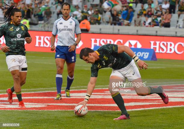 Ruhan Nel of South Africa during the 2017 HSBC Cape Town Sevens Bronze Final match between South Africa and Canada at Cape Town Stadium on December...