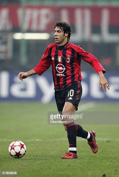 Rui Costa of Milan in action during the UEFA Champions League Group F match between AC Milan and Shakhtar Donetsk at the San Siro on November 24 2004...