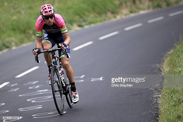 Rui Faria Da Costa of Portugal riding for LampreMerida rides during stage ninteen of the 2016 Le Tour de France a 146km stage from Albertville to...