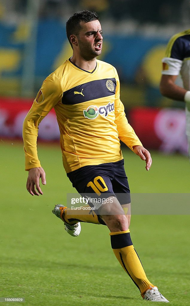 Rui Miguel of AEL Limassol FC in action during the UEFA Europa League group stage match between AEL Limassol FC and Fenerbahce SK held on October 25, 2012 at the GSP Stadium, in Nicosia, Cyprus.