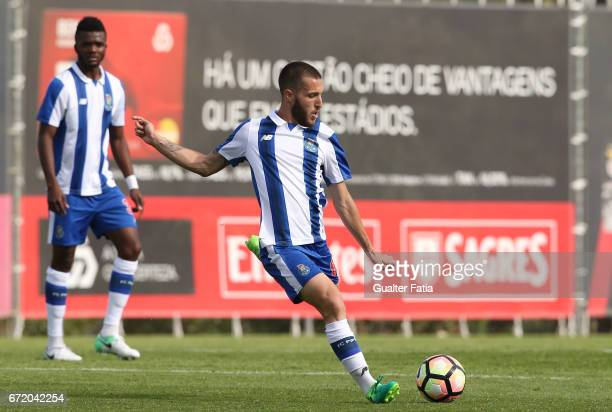 Rui Moreira of FC Porto B in action during the Segunda Liga match between SL Benfica B and FC Porto B at Caixa Futebol Campus on April 23 2017 in...