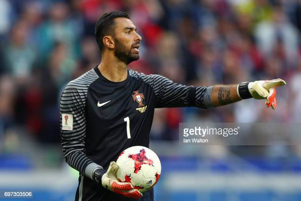 Rui Patrici of Portugal gives his team instructios during the FIFA Confederations Cup Russia 2017 Group A match between Portugal and Mexico at Kazan...
